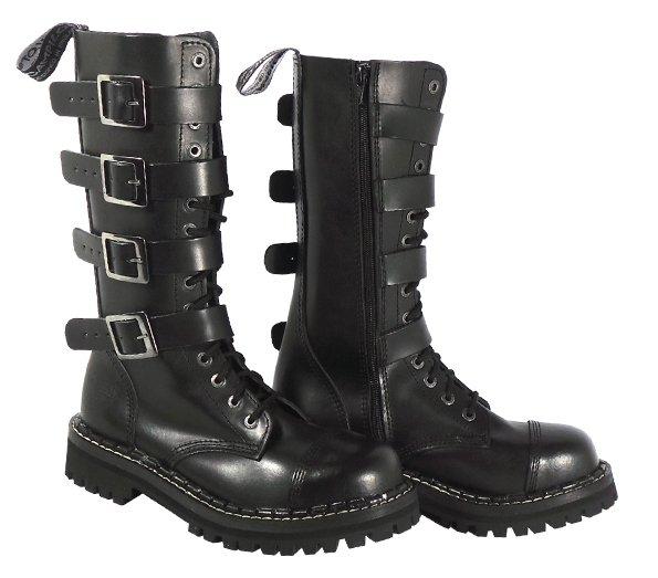 15 dírkové boty CAMPILOT Black 4 přezky 613c9b27d2