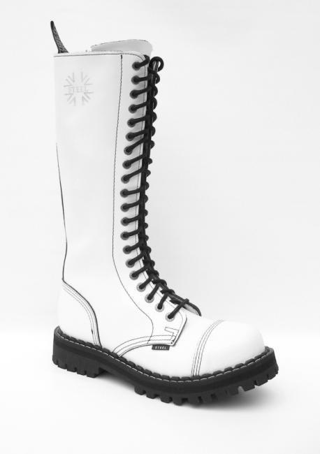 e253340d91f 20 dírkové boty STEEL Full White   Obuv-odevy.cz - Pánská a dámská ...