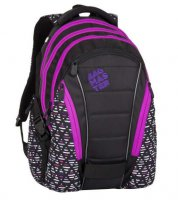 Batoh BAG 8 A BLACK/PINK/VIOLET